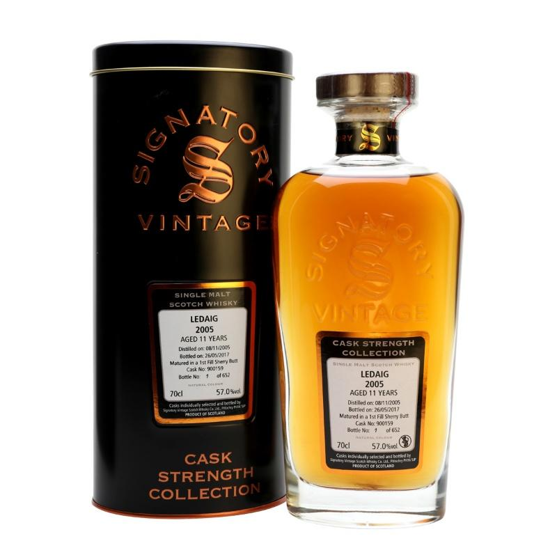 Ledaig 11 yrs Island Cask Strength Signatory Single Malt Scotch Whisky - De Wine Spot | Curated Whiskey, Small-Batch Wines and Sakes