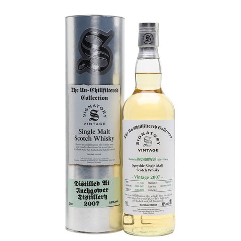 Inchgower 11 yrs Unchillfiltered Signatory Single Malt Scotch Whisky