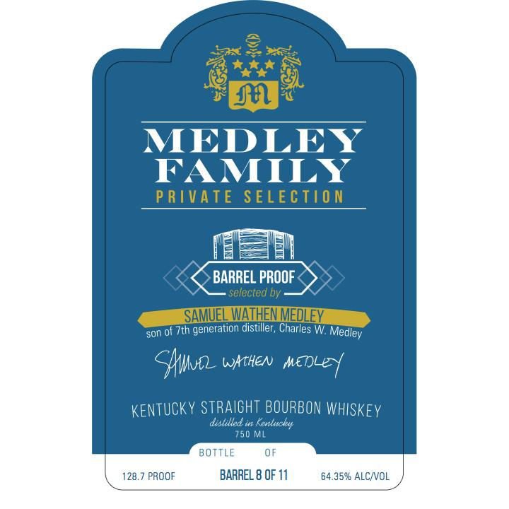 Medley Family Private Selection Kentucky Straight Bourbon Whiskey - De Wine Spot | Curated Whiskey, Small-Batch Wines and Sakes
