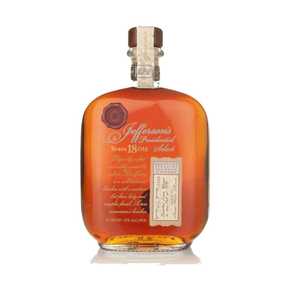 Jefferson's Presidential Select 18 Year Old Straight Bourbon Whiskey - De Wine Spot | Curated Whiskey, Small-Batch Wines and Sakes