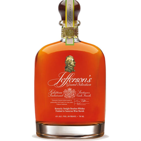 Jefferson's Grand Selection Kentucky Straight Bourbon Finished in Chateau Suduiraut Sauternes Casks | De Wine Spot - Curated Whiskey, Small-Batch Wines and Sakes