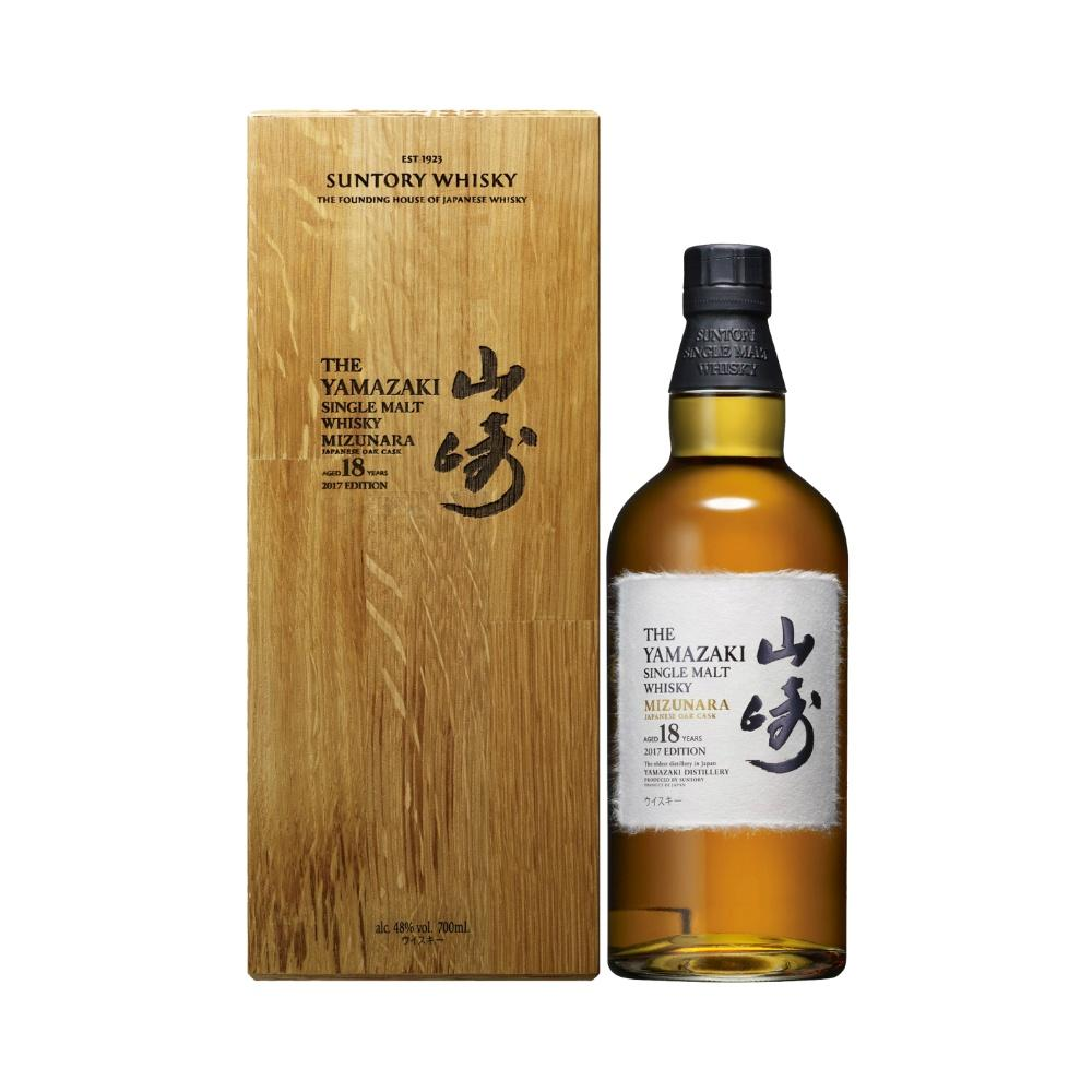 Yamazaki Mizunara 18 Years Single Malt Japanese Whisky | De Wine Spot - Curated Whiskey, Small-Batch Wines and Sakes