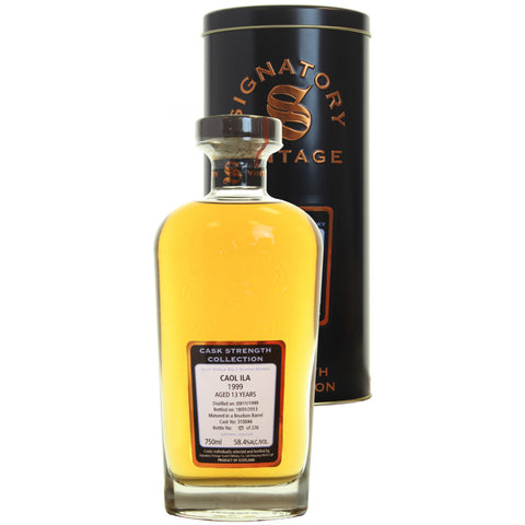 Caol Ila Hogshead 13 yrs Islay Cask Strength Signatory Single Malt Scotch Whisky - De Wine Spot | Curated Whiskey, Small-Batch Wines and Sakes