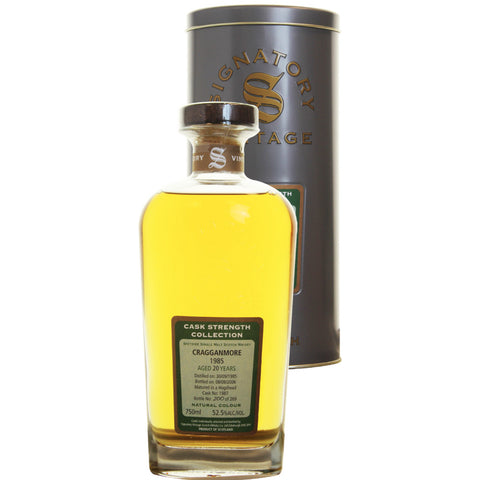 Graggnmore Hogshead 20 yrs Speyside Cask Strength Signatory Single Malt Scotch Whisky | De Wine Spot - Curated Whiskey, Small-Batch Wines and Sakes