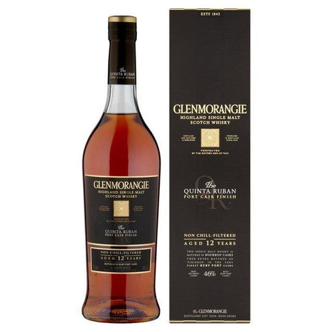Glenmorangie Quinta Ruban 12 Year Old Highland Single Malt Scotch Whisky - De Wine Spot | Curated Whiskey, Small-Batch Wines and Sakes