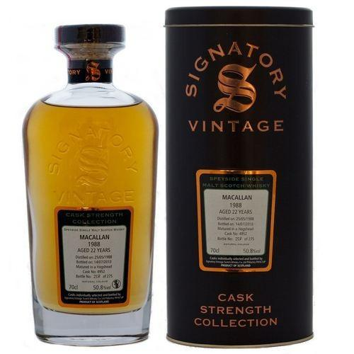 Macallan 18 yrs Speyside Cask Strength Signatory Single Malt Scotch Whisky | De Wine Spot - Curated Whiskey, Small-Batch Wines and Sakes