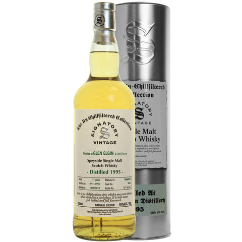 Glen Elgin 17 yrs Speyside Unchillfiltered Signatory Single Malt Scotch Whisky | De Wine Spot - Curated Whiskey, Small-Batch Wines and Sakes