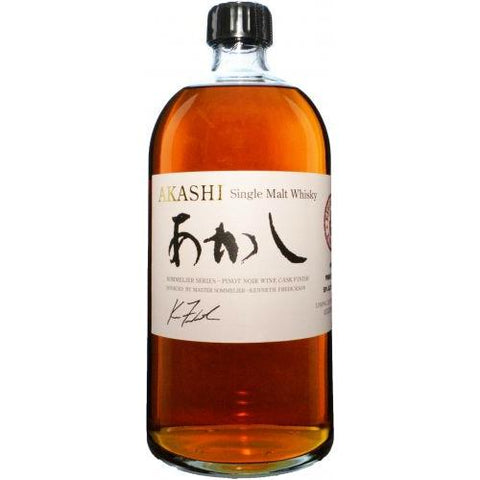 Akashi Sommelier Series Pinot Noir Wine Cask Finish Single Malt Whisky - De Wine Spot | Curated Whiskey, Small-Batch Wines and Sakes