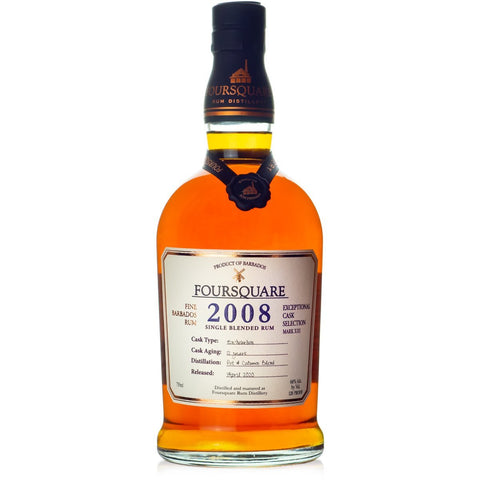 "Foursquare Distillery Mark XIII ""2008"" 12 Year Old Exceptional Cask Selection Single Blended Rum - De Wine Spot 