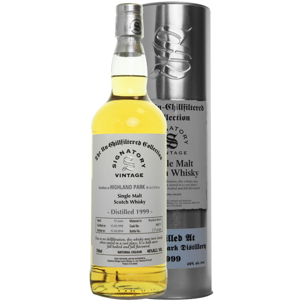 Highland Park Bourbon 15 yrs Island Unchillfiltered Signatory Single Malt Scotch Whisky | De Wine Spot - Curated Whiskey, Small-Batch Wines and Sakes