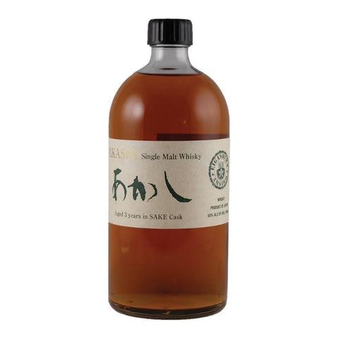 Akashi 3 Years Sake Cask Single Malt Whisky - De Wine Spot | Curated Whiskey, Small-Batch Wines and Sakes