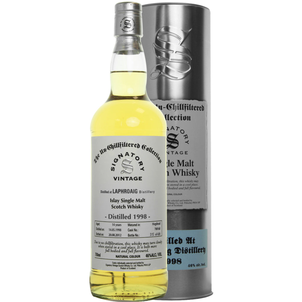Laphroig 14 yrs Islay Unchillfiltered Signatory Single Malt Scotch Whisky | De Wine Spot - Curated Whiskey, Small-Batch Wines and Sakes