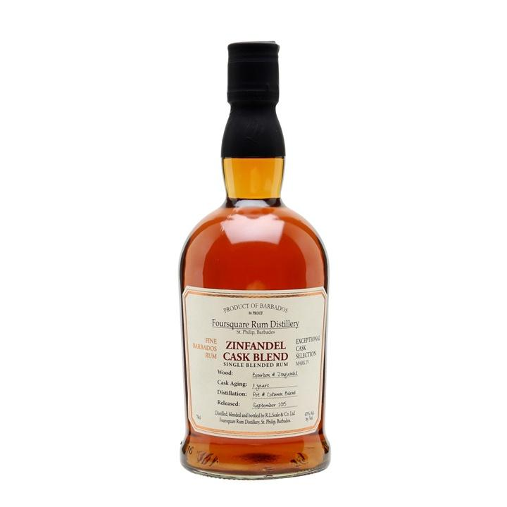 Foursquare Distillery Zinfandel Cask Single Blend Rum | De Wine Spot - Curated Whiskey, Small-Batch Wines and Sakes