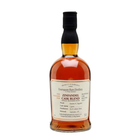 Foursquare Distillery Zinfandel Cask Single Blend Rum - De Wine Spot | Curated Whiskey, Small-Batch Wines and Sakes