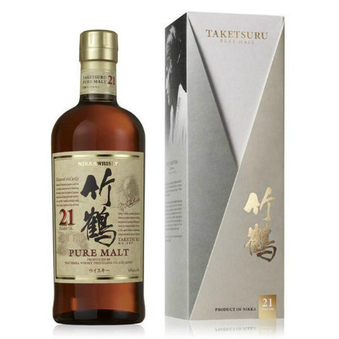 Nikka Taketsuru 21Years  Pure Malt Japanese Whisky - De Wine Spot | Curated Whiskey, Small-Batch Wines and Sakes