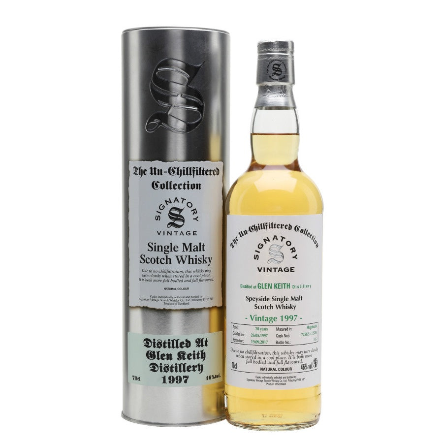 Glen Keith 20 yrs Speyside Unchillfiltered Signatory Single Malt Scotch Whisky - De Wine Spot | Curated Whiskey, Small-Batch Wines and Sakes