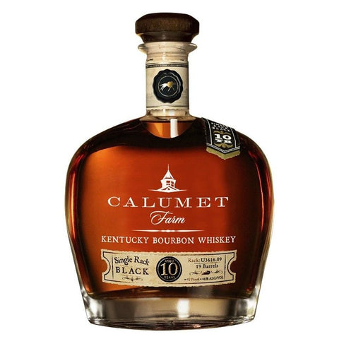 Calumet Farm 10 Year Old Single Rack Black Kentucky Bourbon - De Wine Spot | Curated Whiskey, Small-Batch Wines and Sakes