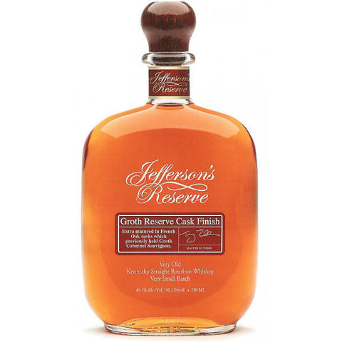 Jefferson's Groth Reserve Cask Finish Very Old Kentucky Straight Bourbon Whiskey | De Wine Spot - Curated Whiskey, Small-Batch Wines and Sakes