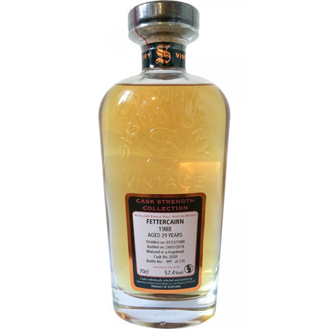 Fettercairn 29 yrs Hogshead Cask Strength Signatory Single Malt Scotch Whisky