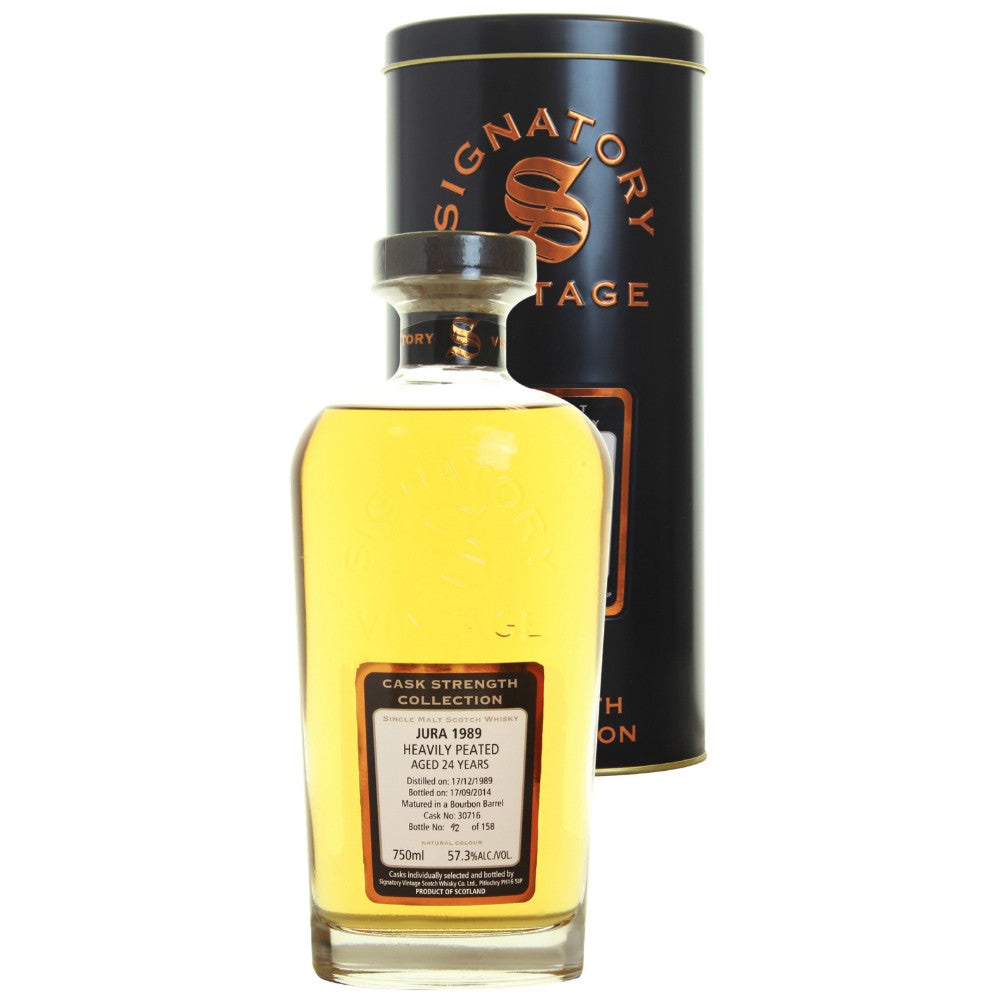 Isla of Jura Bourbon 24 yrs Island Cask Strength Signatory Single Malt Scotch Whisky - De Wine Spot | Curated Whiskey, Small-Batch Wines and Sakes