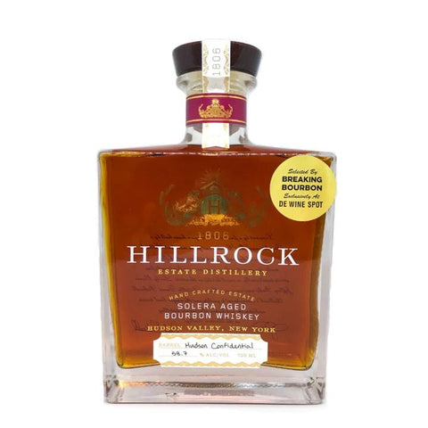 "Hillrock Estate Distillery Solera Aged Barrel Proof Breaking Bourbon ""Hudson Confidential"" Pick - De Wine Spot 