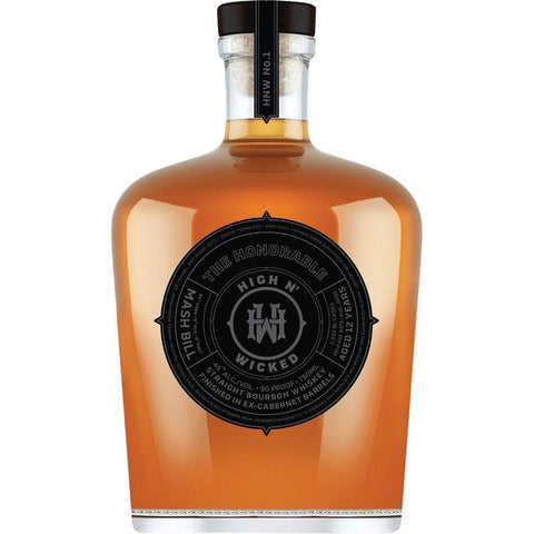 High N' Wicked 12 Years Old The Honorable Straight Bourbon Whiskey Finished In Ex-Cabernet Barrels - De Wine Spot | Curated Whiskey, Small-Batch Wines and Sakes
