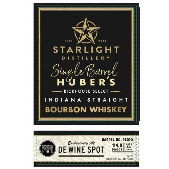 "Starlight Distillery Breaking Bourbon ""Superstar"" Single Barrel Bourbon - De Wine Spot 