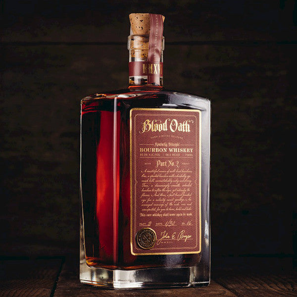 Blood Oath Kentucky Straight Bourbon Whiskey Pact No2 De Wine