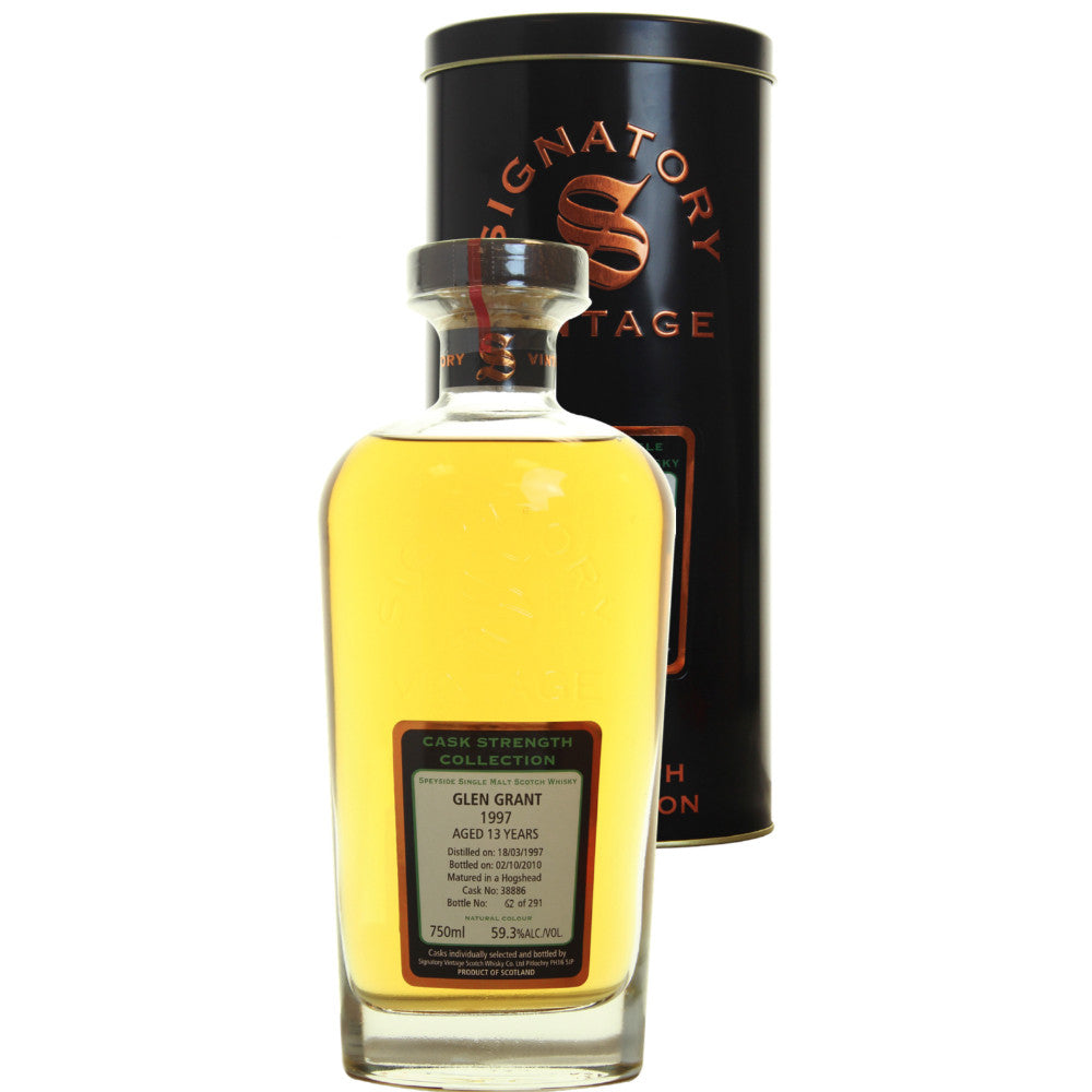 Glen Grant Hogshead 13 yrs Speyside Cask Strength Signatory Single Malt Scotch Whisky - De Wine Spot | Curated Whiskey, Small-Batch Wines and Sakes