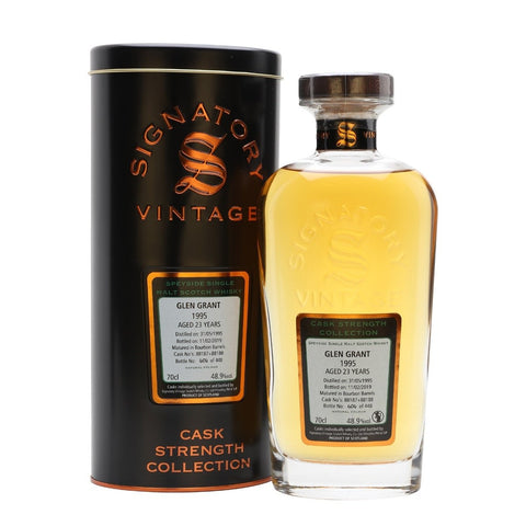 Glen Grant 23yrs Speyside Cask Strength Signatory Single Malt Scotch Whisky - De Wine Spot | Curated Whiskey, Small-Batch Wines and Sakes