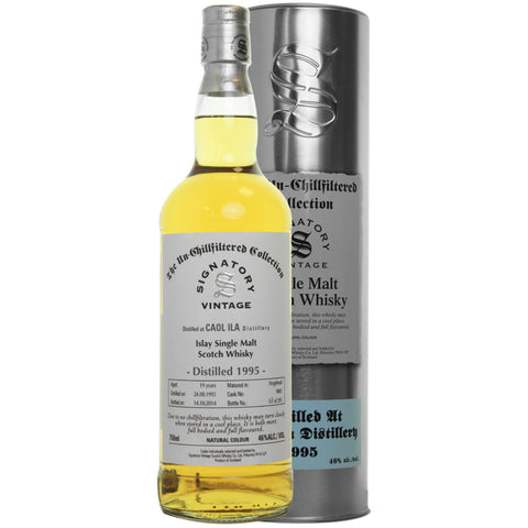 Caol Ila Hogshead 19 yrs Islay Unchillfiltered Signatory Single Malt Scotch Whisky | De Wine Spot - Curated Whiskey, Small-Batch Wines and Sakes