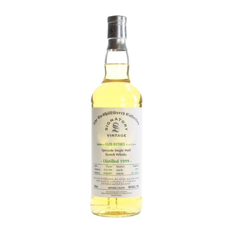 Glenrothes Hogshead Cask 17 yrs Speyside Unchillfiltered Signatory Single Malt Scotch Whisky - De Wine Spot | Curated Whiskey, Small-Batch Wines and Sakes