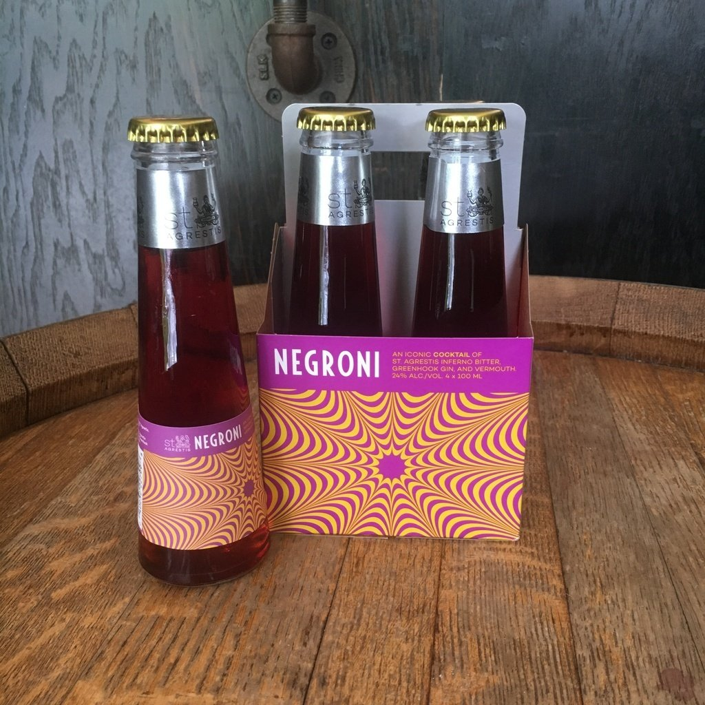 St. Agrestis Negroni 4 Pack - De Wine Spot | Curated Whiskey, Small-Batch Wines and Sakes