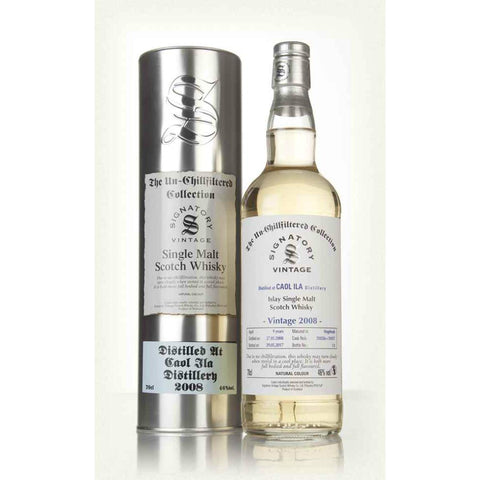 Caol Ila 8 yrs Hogshead Unchillfiltered Signatory Single Malt Scotch Whisky - De Wine Spot | Curated Whiskey, Small-Batch Wines and Sakes