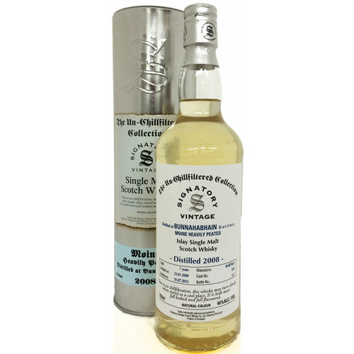 Bunnahabhain-Moine 7 yrs Islay Unchillfiltered Signatory Single Malt Scotch Whisky - De Wine Spot | Curated Whiskey, Small-Batch Wines and Sakes