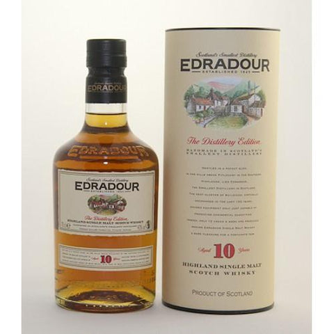 Edradour 10 yrs Highland Signatory Single Malt Scotch Whisky - De Wine Spot | Curated Whiskey, Small-Batch Wines and Sakes