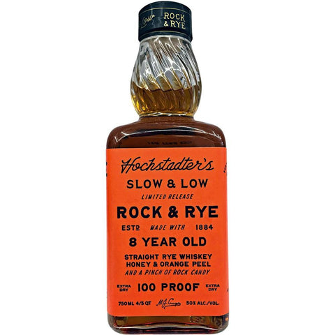 Hochstadter's Slow & Low Rock and Rye 8 Year 100 Proof Limited Release | De Wine Spot - Curated Whiskey, Small-Batch Wines and Sakes