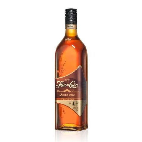 Flor de Cana 4 Year Anejo Oro Rum - De Wine Spot | Curated Whiskey, Small-Batch Wines and Sakes