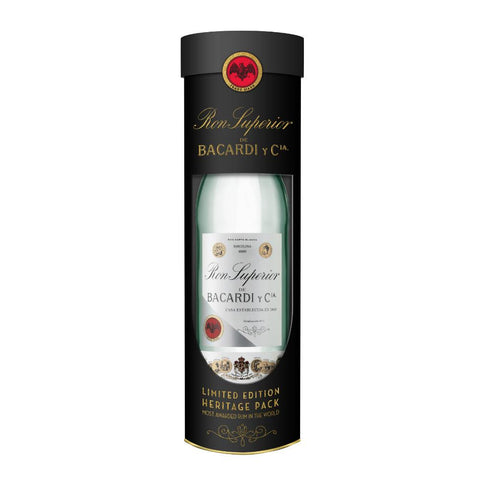 Bacardi Superior White Rum Limited Edition Heritage Bottle - De Wine Spot | Curated Whiskey, Small-Batch Wines and Sakes