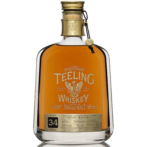 Teeling 34 Year Old Single Malt Irish Whiskey | De Wine Spot - Curated Whiskey, Small-Batch Wines and Sakes