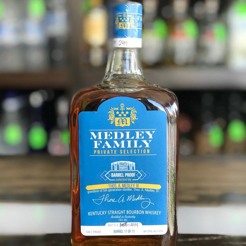 Medley Family Private Selection (Thos A Medley III) Barrel Proof Kentucky Straight Bourbon Whiskey | De Wine Spot - Curated Whiskey, Small-Batch Wines and Sakes