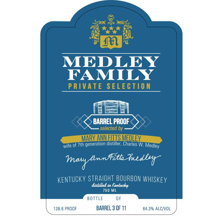 Medley Family Private Selection  (Mary Ann Fitts Medley)  Kentucky Straight Bourbon Whiskey - De Wine Spot | Curated Whiskey, Small-Batch Wines and Sakes