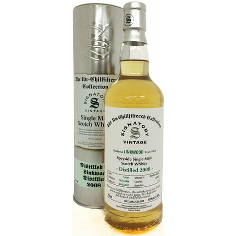 Linkwood 7 yrs Speyside Unchillfiltered Signatory Single Malt Scotch Whisky - De Wine Spot | Curated Whiskey, Small-Batch Wines and Sakes