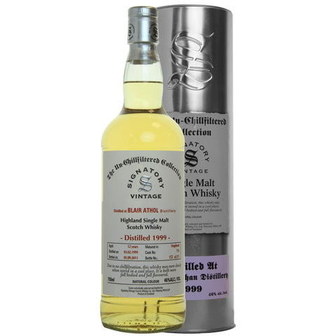 Blair Athol Hogshead 12 yrs Highland Unchillfiltered Signatory Single Malt Scotch Whisky | De Wine Spot - Curated Whiskey, Small-Batch Wines and Sakes