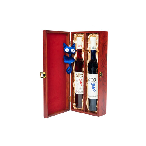 "House of Hafner OTTO ""The Sweet Blue"" Muscat and ""Red Lady"" Red Late Harvest Gift Set"