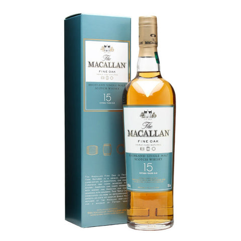 Macallan 15 Years Old Fine Oak Highland Single Malt Scotch Whisky - De Wine Spot | Curated Whiskey, Small-Batch Wines and Sakes