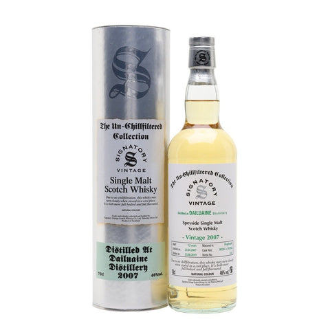 Dailuaine 12 yrs Unchillfiltered Signatory Single Malt Scotch Whisky - De Wine Spot | Curated Whiskey, Small-Batch Wines and Sakes