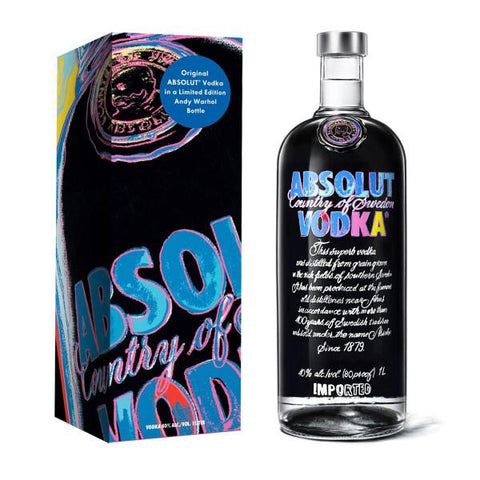 Absolut Vodka Andy Warhol Limited Edition | De Wine Spot - Curated Whiskey, Small-Batch Wines and Sakes