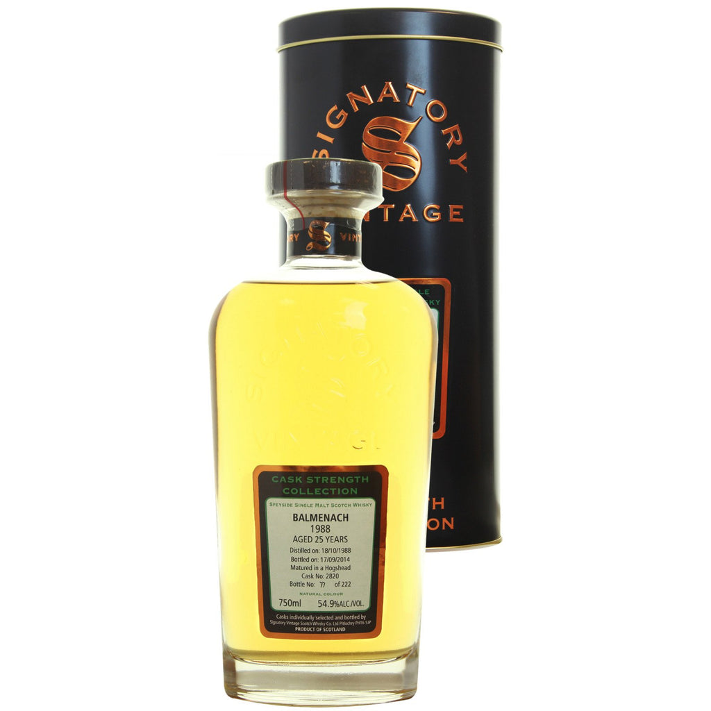 Balmenach Hogshead 25 yrs Speyside Cask Strength Signatory Single Malt Scotch Whisky - De Wine Spot | Curated Whiskey, Small-Batch Wines and Sakes