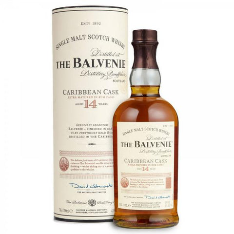 Balvenie 14 Years Caribbean Cask - De Wine Spot | Curated Whiskey, Small-Batch Wines and Sakes